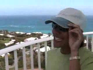 Southampton, Bermuda: 26. Anita at the top of the Lighthouse