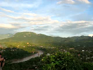Luang Prabang, Laos: Khon River View from Phousi Hills