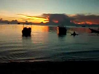 Koh Tao, Tailandia: The gang's first sunset