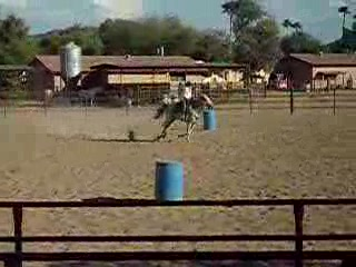 White Stallion Ranch: Learning to barrel race