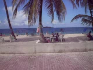 Île de San Andres, Colombie : downtown