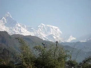 Pokhara, Nepal: Annapurna and Fishtail view