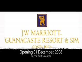 Σάντα Κρουζ, Κόστα Ρίκα: First day of operations at the JW Marriott Guanacaste Resort & Spa