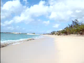 Simpson Körfezi, St-Martin / St Maarten : Panoramic view of Simpson Bay Beach