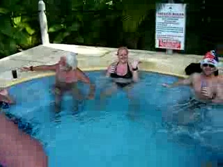 Couples negril nude hot tub