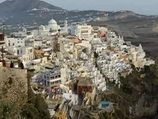 Санторини, Греция: A 180 Degree View of Santorini