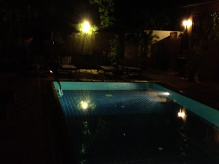Antanue Spiritual Resort &amp; Spa: night pool