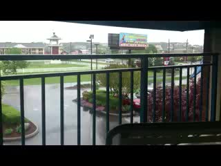Fairfield Inn & Suites Pigeon Forge: Balcony relaxing & dry, even on a rainy day