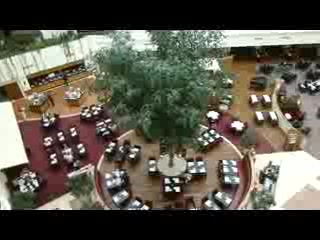 Sheraton Krakow, The atrium with restaurant and lobby bar