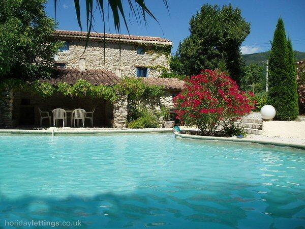 View of the house with the spacious pool (10m x 6m).