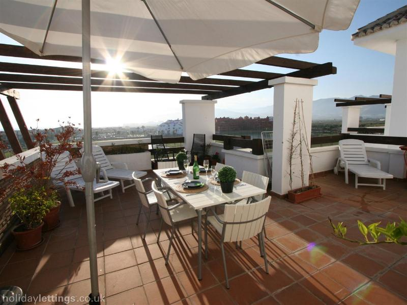 Dining out on Own large sun Terrace