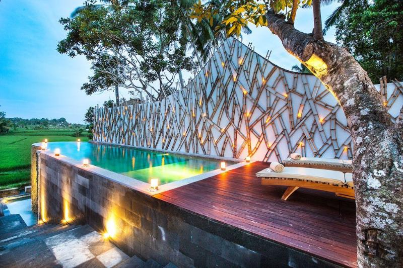 one bedroom pool villa with rice paddie view