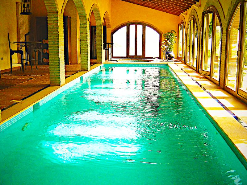 Pamper yourself swimming in the 13m x 3m  heated indoor pool.