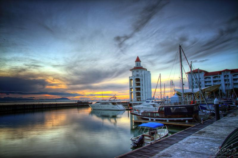 Sunset at the Quay