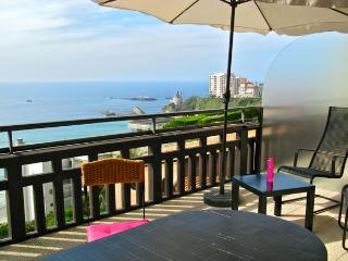 MAGNIFICENT SEA VIEW IN STUDIO CHARMING HOUSE BIARRITZ.