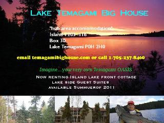 Lake Temagami Hub Island Vacation Cottage rental