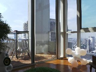 luxury 2 bedroom penthouse on Chao Phraya river