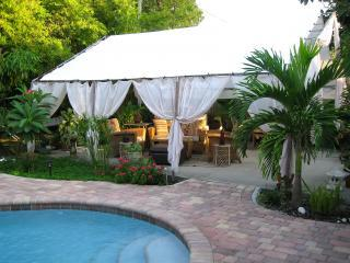 Pool and Covered Living and Dining Area