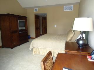 Lodge 412 Hotel Room with King Bed. Sleeps 2. WIFI.