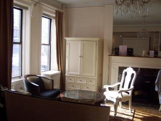 Brownstone: quiet, sunny 1 BR, well equipped kit.