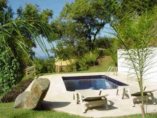 Your Private Mosaic Tiled Pool nestled among the palms, total privacy and ocean view.