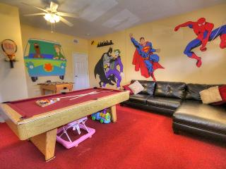 Game Room - Air conditioned. Toys, Lego, Wii Fit, Playstation 2, Games, Slate bed pool tbl, foosball