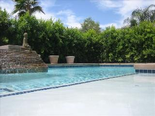 Walking distance to Downtown gated retreat home with private pool and spa