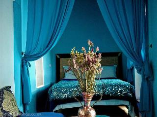 Turquoise Blue privet room....