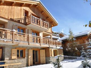 Very comfortable apartment, 5 rooms, in a  chalet, 110m2 for 10/12 people, 4 bedrooms, 3 showers, 3 toilets, WiFi