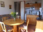 CAB FLAT T 2 6 GUESTS 36M2, GARAGE.CONFORT, CALM, PANORAMIC VIEW OF THE MOUNTAINS.