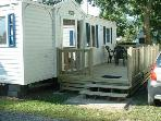 Mobile home bay of Mont Saint Michel in 3 * campsite with swimming pool, terrace 6 m * 2.50 m