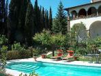 HOLIDAY RENTAL IN TUSCANY, ITALY, NEAR CORTONA; HISTORIC HOUSE WITH SWIMMING POOL