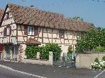 Elssssisches Fachwerkhaus in der Nhe von Colmar
