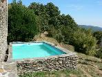 At the heart of Cvennes, character farmhouse with swimming pool in proprit 25 ha