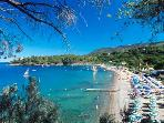 two-room flat 50 mt from the beach of naregno (capoliveri) elba island