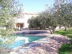 2 storey house with swimming pool 170 m2 in 2100 m2 olive grove, quiet, 20 km from Arles, Avignon, Nmes, St RMY