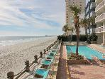Airy 2BR/2BA Condo w/Private Balcony &amp; Ocean View - Steps to the Beach!