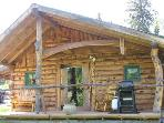 ATV, Harley at Moose-themed Kenai River Area Cabin