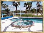 Luxury waterfront home pool spa wifi Venice FL