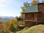 Mountain Top Three Bedroom Cabin with Hot Tub & Satellite HDTV