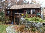 Cozy Log Cabin Vacation Rental Just a Short Walk to Sandy Beach (GRI15B)