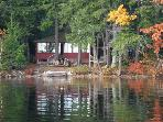 Seasonal Waterfront Cottage with Guest House on Lake Winnipesaukee (JOW266W)