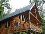 Log Cabin with Views, Hot Tub, River Access, Fishing Lake - Fleetwood Falls
