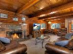 Reed Luxury Log Cabin Vacation Rental with Hot Tub