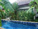 5min from Nai Harn beach. Doubles w/Garden & Pool