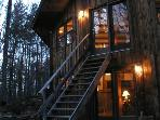 Unique mountain retreat; 40 secluded/wooded acres.