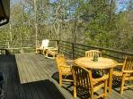Enchanting Woodland Privacy & Upscale Furnishings At this Timber Frame Rental Cabin