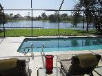 A Stunning Lake View with Sunny Pool and Lanai