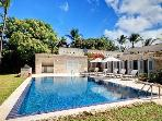 Breezy villa with pool steps to beach, FREE NIGHT!