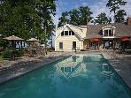 Goat Island River Lodge 50 Acres of Privacy, 400' Sandy Beach, Deep Water